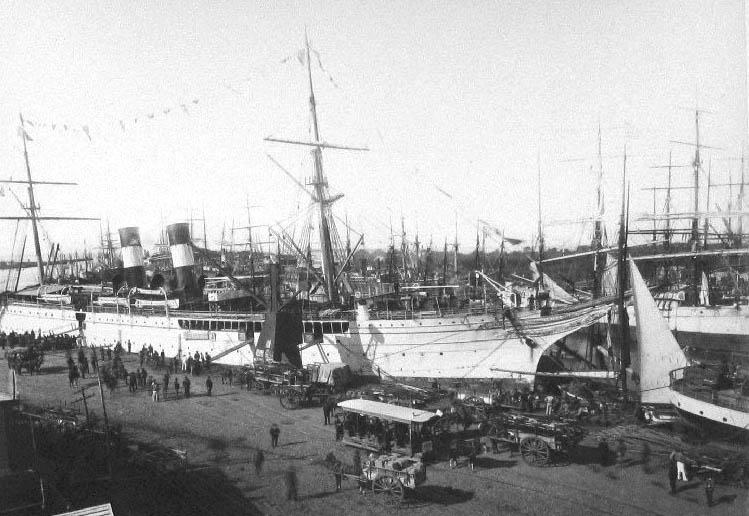 1880年のラ・ボカの港